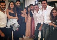 Akshay Kumar & team 'Housefull 3' visit Asin's house