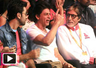 Amitabh SRK Abhishek Ranbir at Opening Ceremony & First Leg Matches