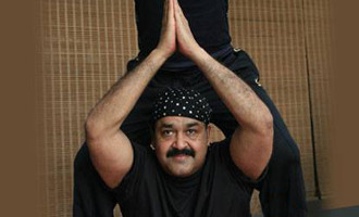 Mohanlal's - headstand pose is Viral on social media