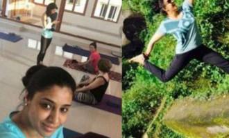 Samyuktha Varma Yoga Practicing