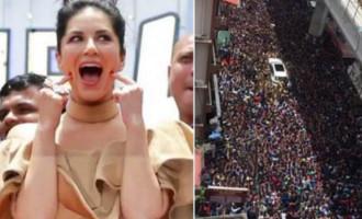 Sea of fans: Sunny Leone arrives at Kochi