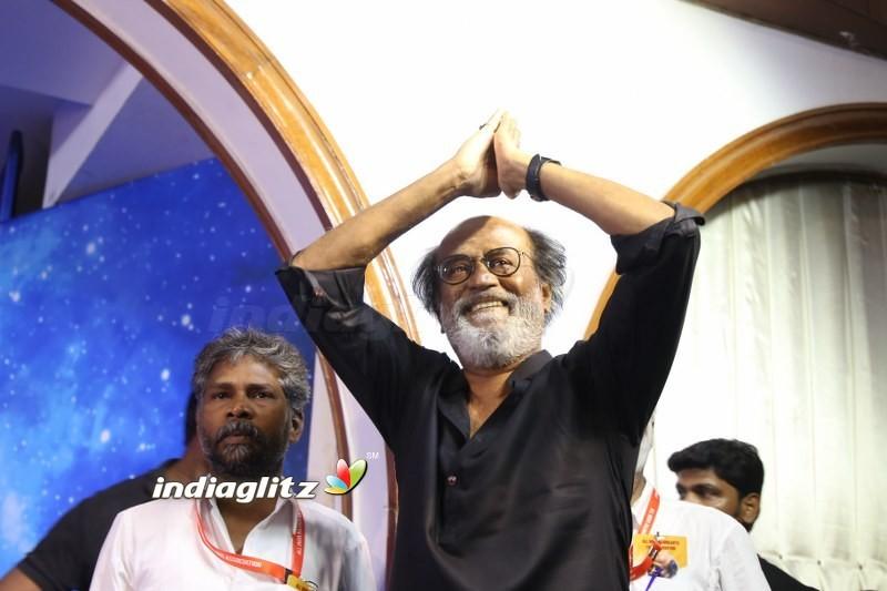 Superstar Rajinikanth At Fans Meet
