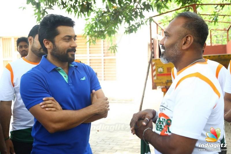 GST Vandi was flag off by Actor Suriya