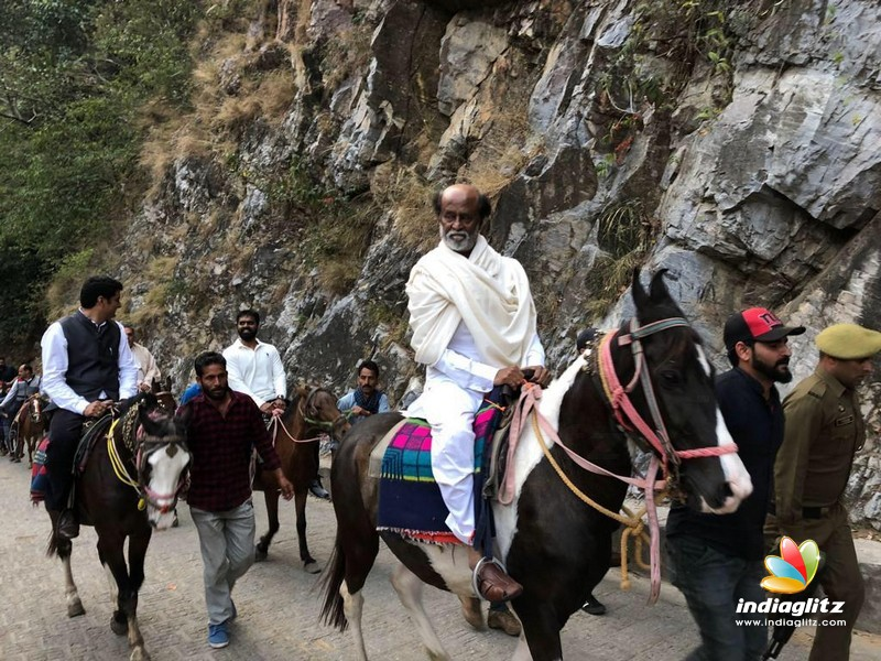 Superstar Rajinikanth at Himalayas