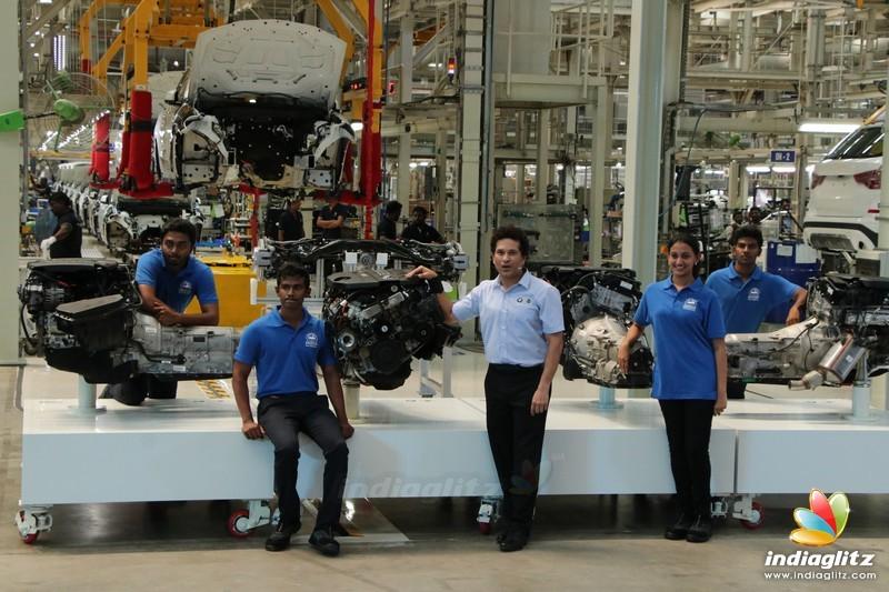 Sachin Tendulkar Launch BMW 5 Series