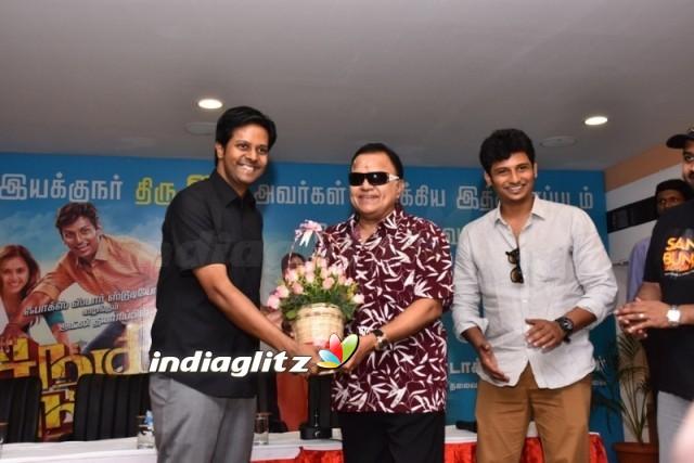 Sangili Bungili Kadhava Thorae Team at Carnival Cinemas Dindigul