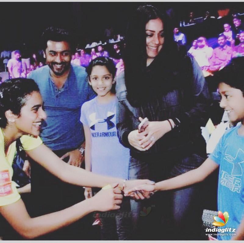 Badminton Legend P.V. Sindhu Meets Ajith & Suriya Families