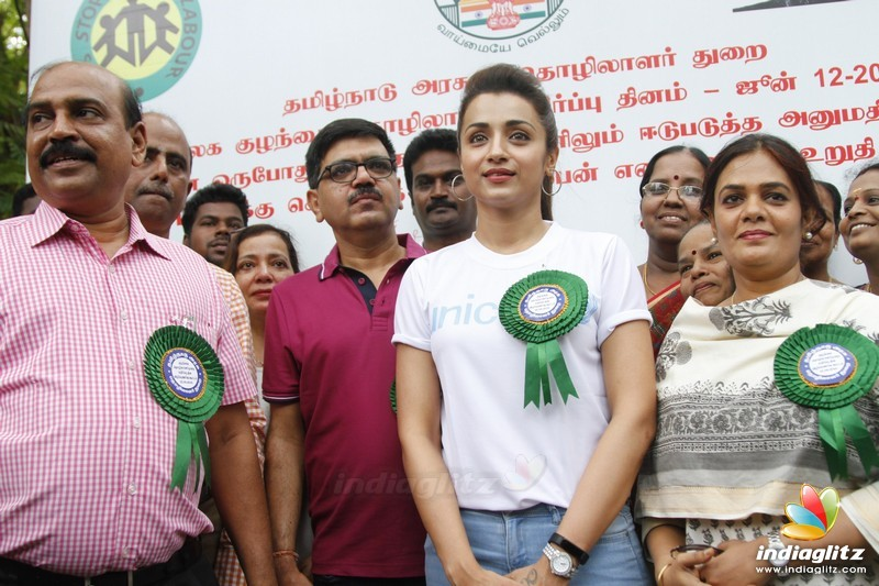 Trisha lend her support to end all forms of child labour