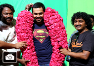 Karthi B'Day Celebration at 'Kashmora' Shooting Spot