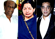 Rajinikanth and Kamal Haasan wish CM Jayalalitha