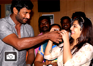 Actor Vishal celebrates his Birthday in a charitable Way Stills