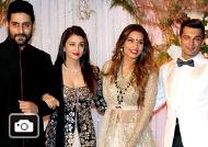 Salman, Aishwarya, SRK, Ranbir, Sanjay Dutt, Amitabh, Sonam at Bipasha-Karan Wedding Reception
