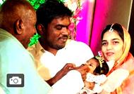 Ilayaraja blessing Yuvan Shankar Raja's newborn baby