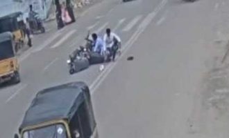 Shocking video: Biker brain dead after accident while talking on cell phone