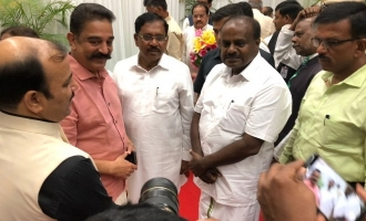Kamal Haasan attends Karnataka new CM swearing in ceremony