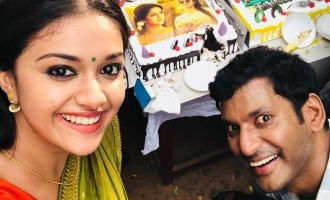 Vishal and Keerthy Suresh in double celebration mode