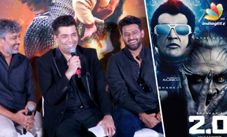 Karan Johar Reaction on Rajini's 2.O Satellite Rights For 110cr - Bahubali 2 Trailer Launch