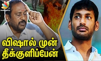 Dhanapal Threatens to Commite Suicide in front of Vishal