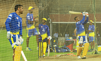 CSK Team Net Practice in Chennai