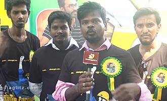 Dhanush fans Theatre Celebration for VIP 2