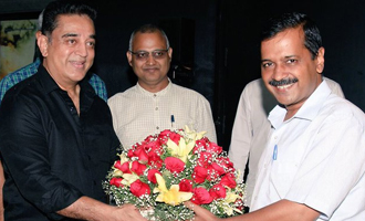 Delhi CM Arvind Kejriwal Kamal Haasan meet and discuss politics