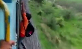 Viral video: Indian youth falls from speeding train trying to show-off