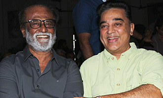 Kamal and Rajini at 'Kizhakku Appricavil Raju' Movie Pooja