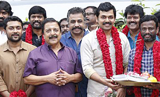 Karthi, Suriya and Director Pandiraj New Movie Pooja