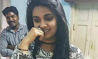 Keerthy Suresh visits Haasan's film set