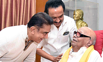 Kamal Haasan's Meeting with M. Karunanidhi and M. K. Stalin