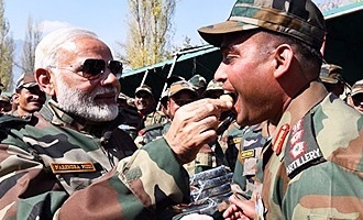 PM celebrates Diwali with Army, BSJ jawans at Gurez in J&K