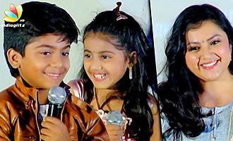 Meena Daughter Nainika & Raghavan Cute Speech