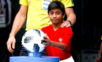 11 year old Indian girl Nathania's emotional recollection video of FIFA World Cup 2018