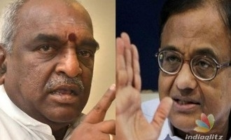 Chidambaram and Pon Radhakrishnan- war of words over 'Mersal'