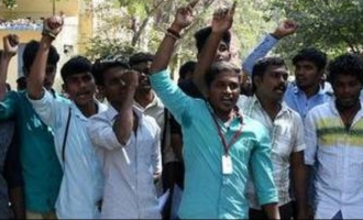Students indulge in protests across the State against bus-fare hike