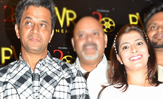 Arjun and Varalaxmi at PVR Cinemas Launch