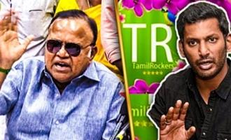 Reveal the Tamilrockers : Radha Ravi angry speech on Vishal