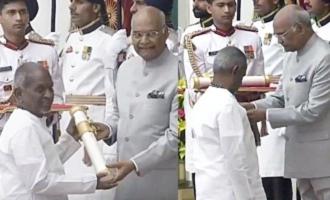 Isaigniani Ilayaraja first to receive Padma Vibushan Award today