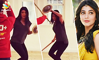 WATCH 'Sangamithra' Shruti Haasan Doing Sword Fighting