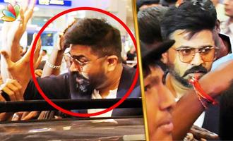 Simbu Met His Crazy Fans On His Birthday at Chennai Airport