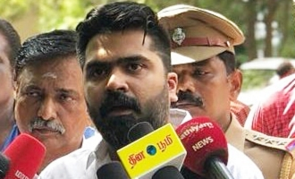 Simbu Meeting The Press at Egmore Police Commissioner Office