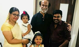 Singer Velmurugan Meets Superstar Rajinikanth Along With His Family!