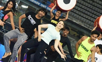 Tamannaah dance rehearsal for IPL opening ceremony
