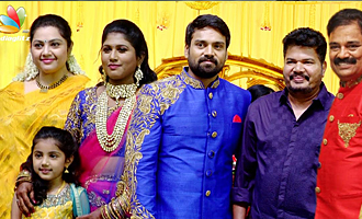 Director Shankar, Meena & Nainika at FEFSI Vijayan's son's Marriage Reception