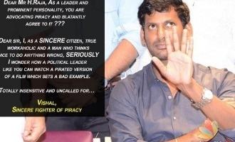 What made Vishal upset enough to call a senior politician 'insensitive'?