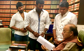 Vishal and team meet a top Union Minister for TN Farmers
