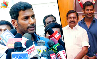 Vishal meets Chief Minister Edappadi Palanisamy - Latest Speech