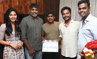 Vijay Sethupathy, Anjali New Movie Pooja Directed by S.U ArunKumar