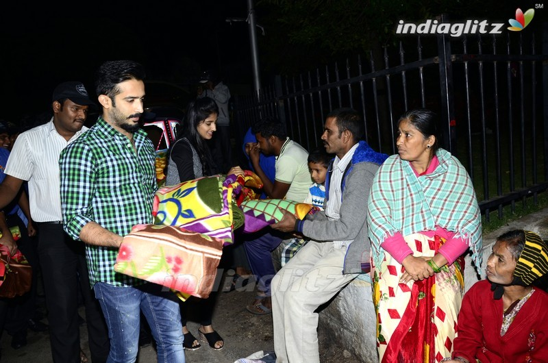 Idhi Maa Premakatha Team @ Prasads IMAX Employees Blankets Donation