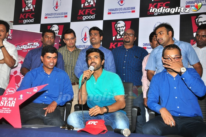 Events » Ram Charan @ Mega Blood Donation Camp By KFC Employees ...